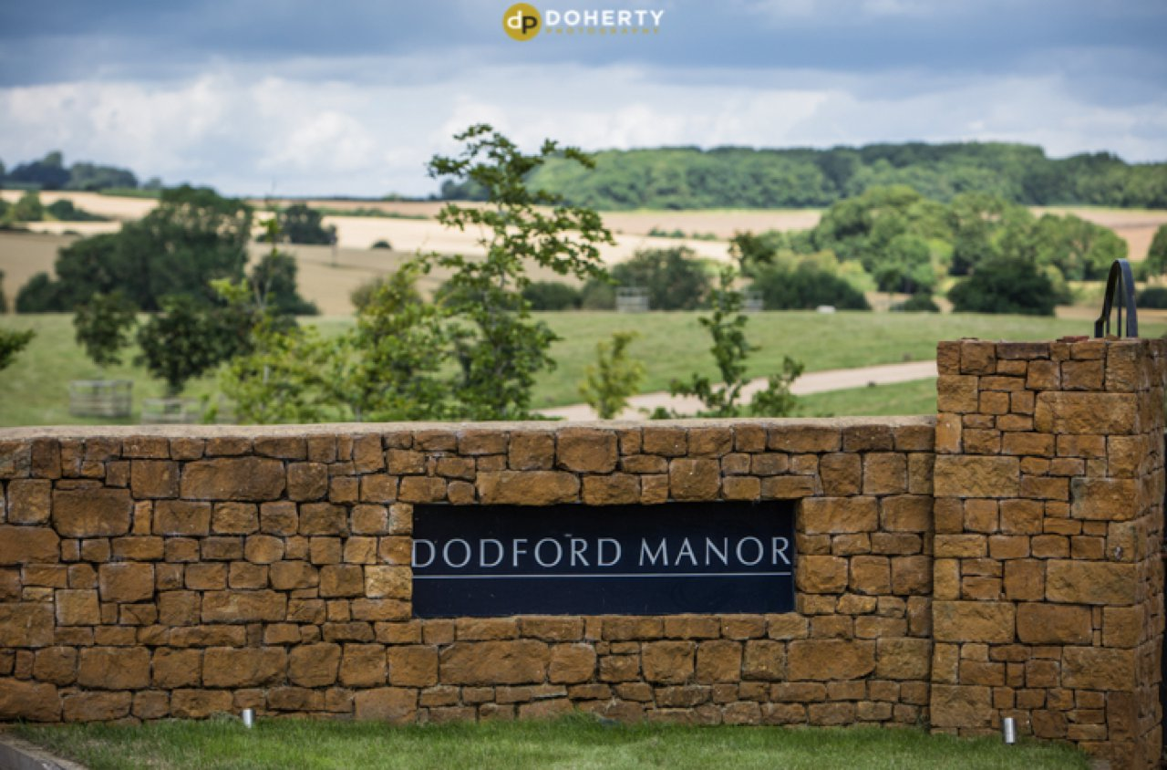 Dodford Manor Sign at entrance