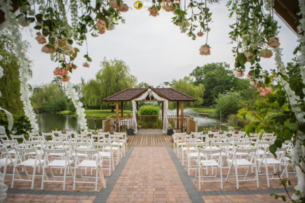 Wootton Park Outdoor Ceremony setup