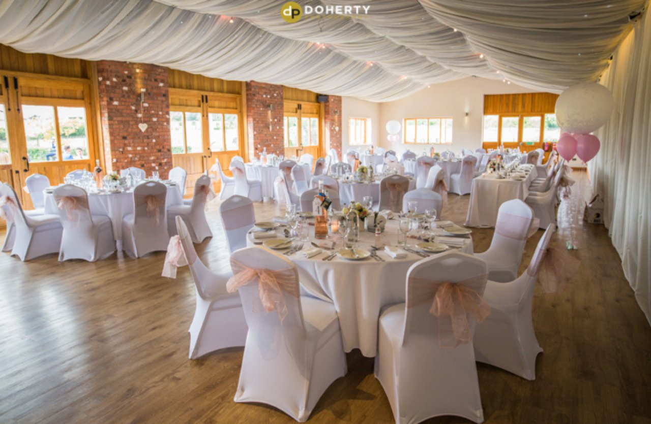 Wooton Park Wedding Breakfast Room Setup
