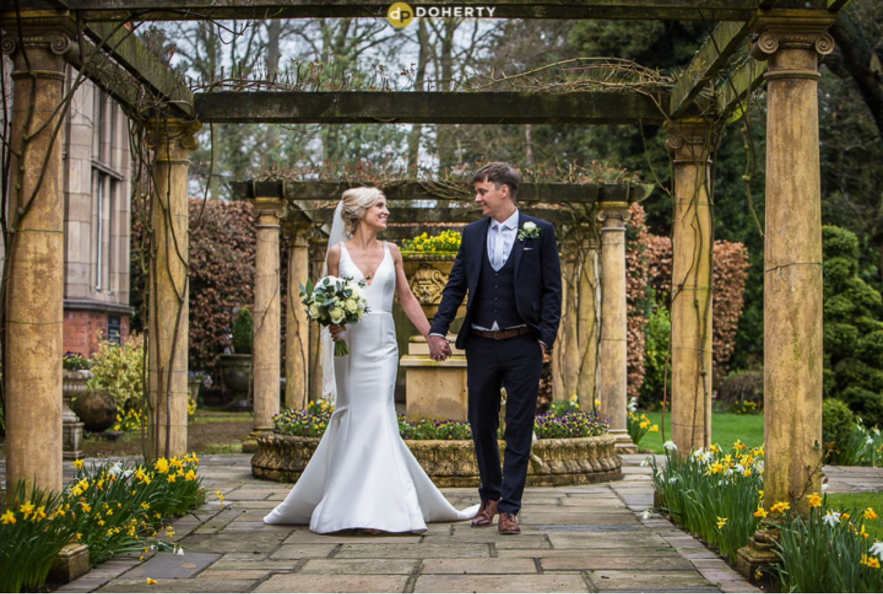 Bride and Groom at Moxhull Hall