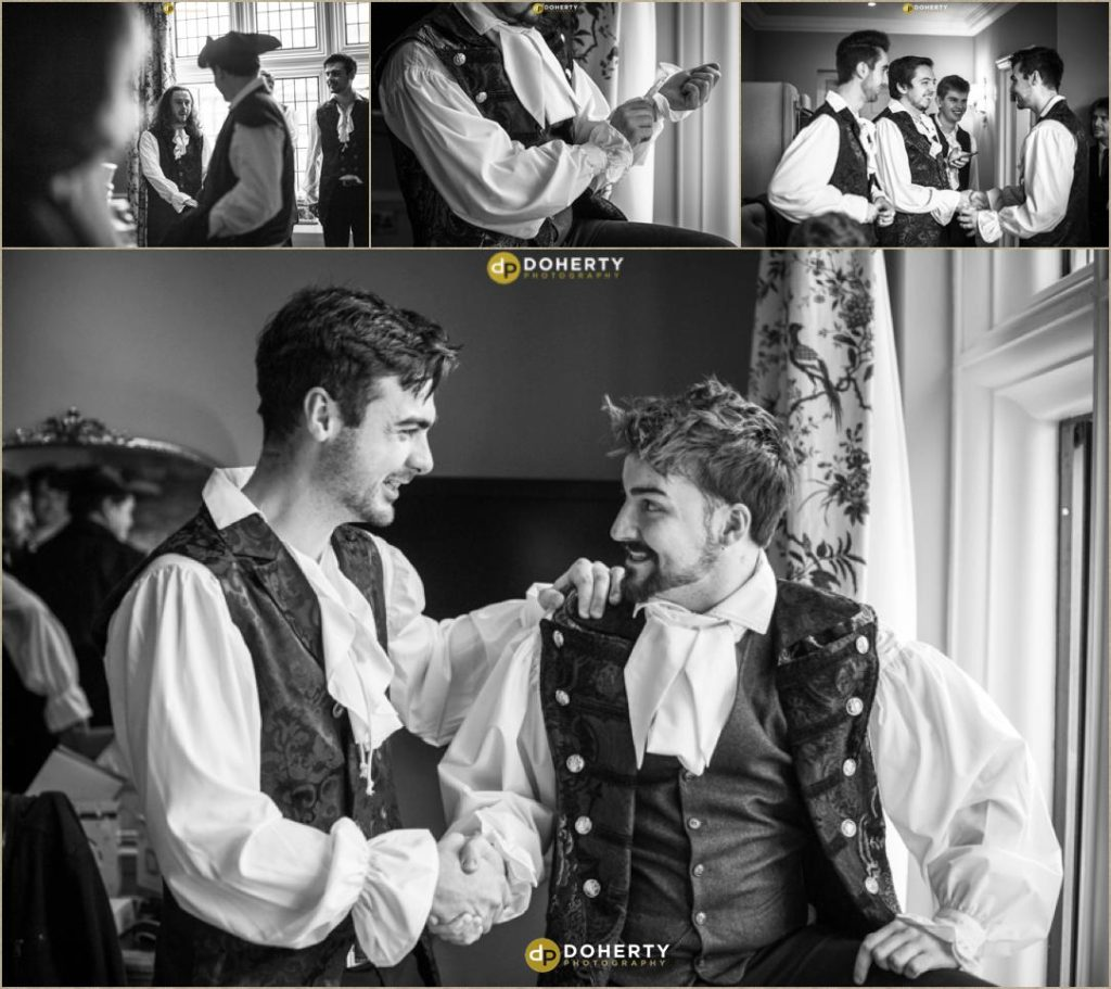 Coombe Abbey - Groom Preparations for Medieval Themed Wedding