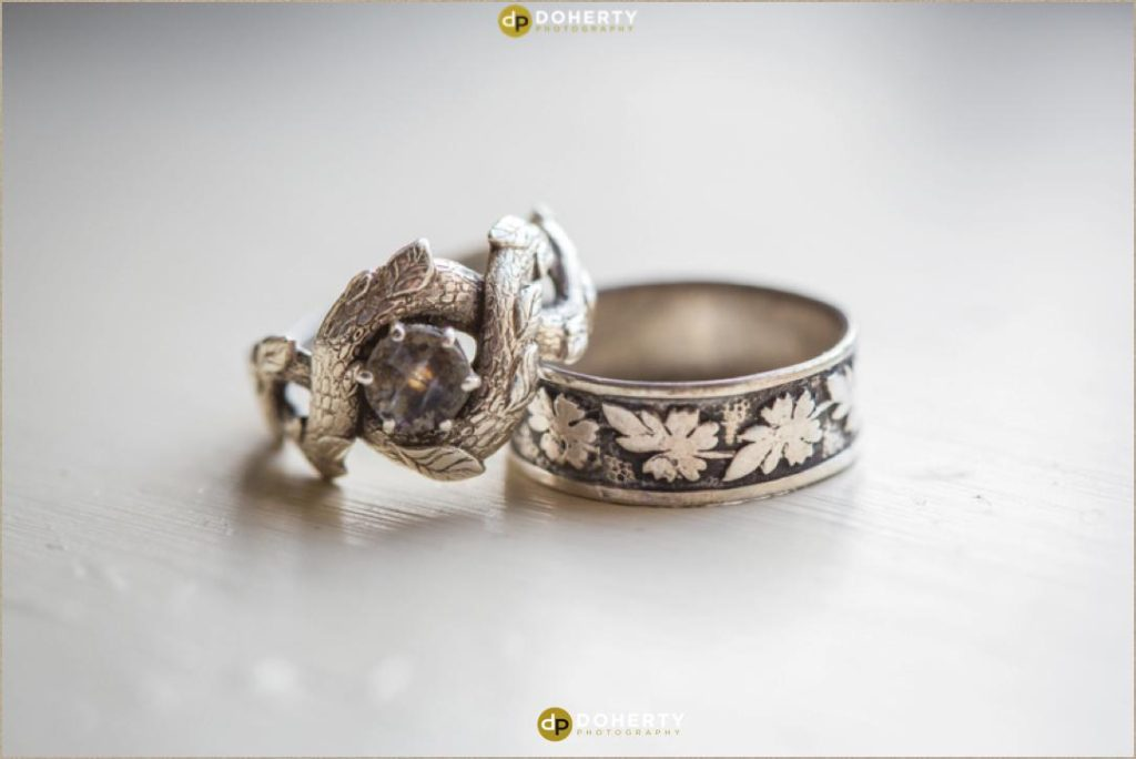 Wedding rings at Coombe Abbey