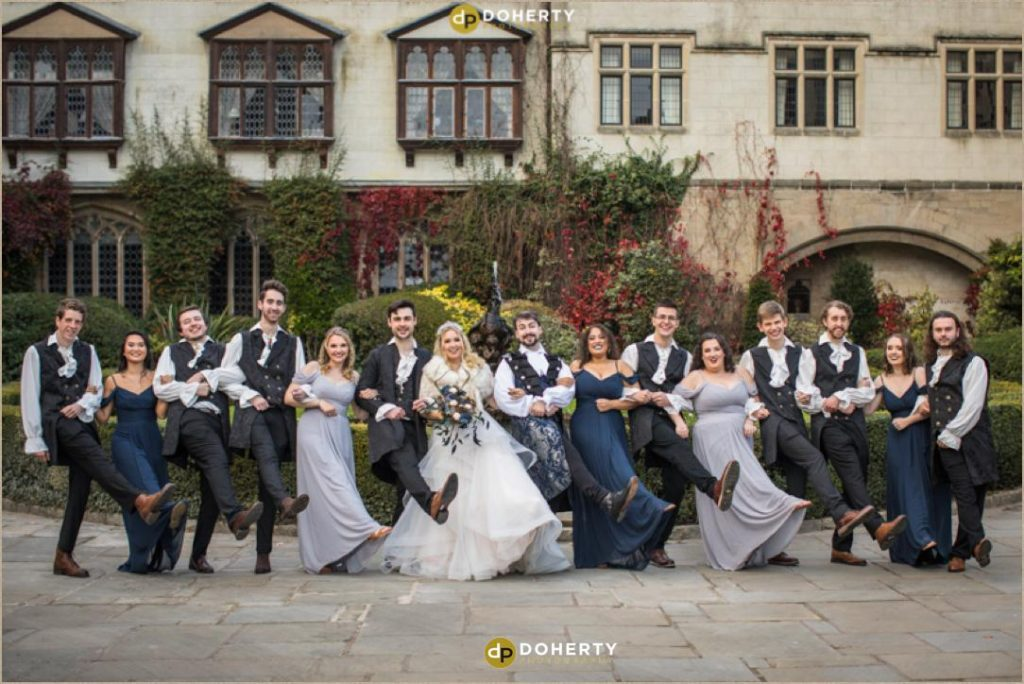 Bridal Party at Coombe Abbey - Medieval Theme Wedding