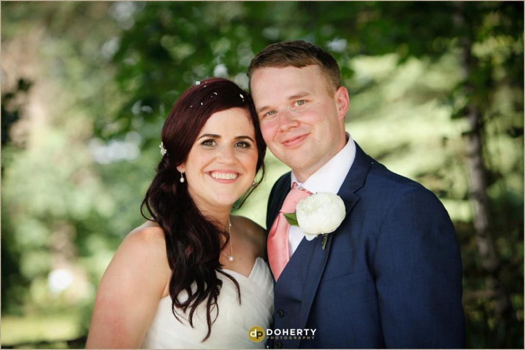 Bride and Groom portrait at The Barns at Hunsbury Hill Wedding