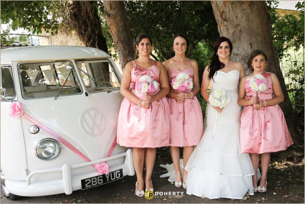 Bridesmaids at The Barns at Hunsbury Hill Wedding