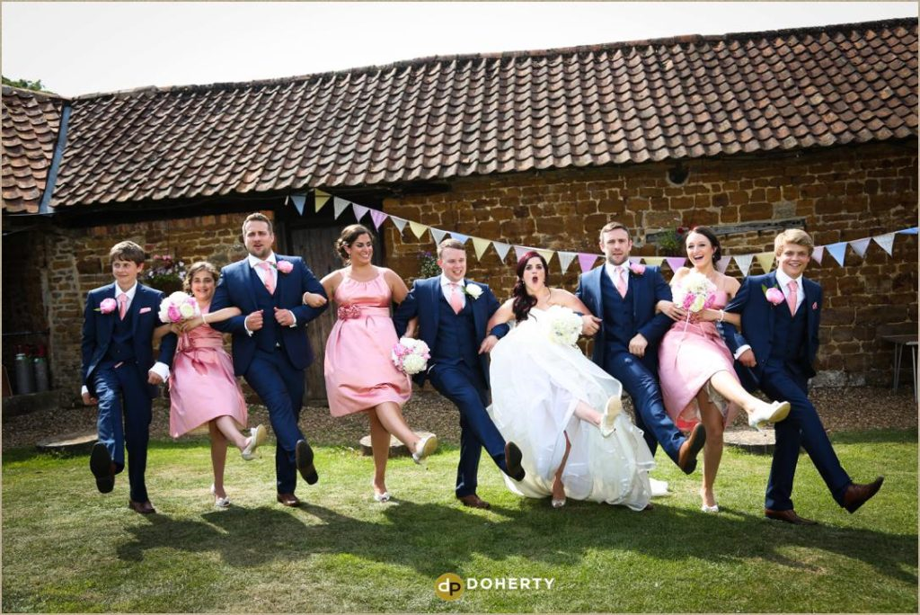 Bridal Party at The Barns at Hunsbury Hill Wedding