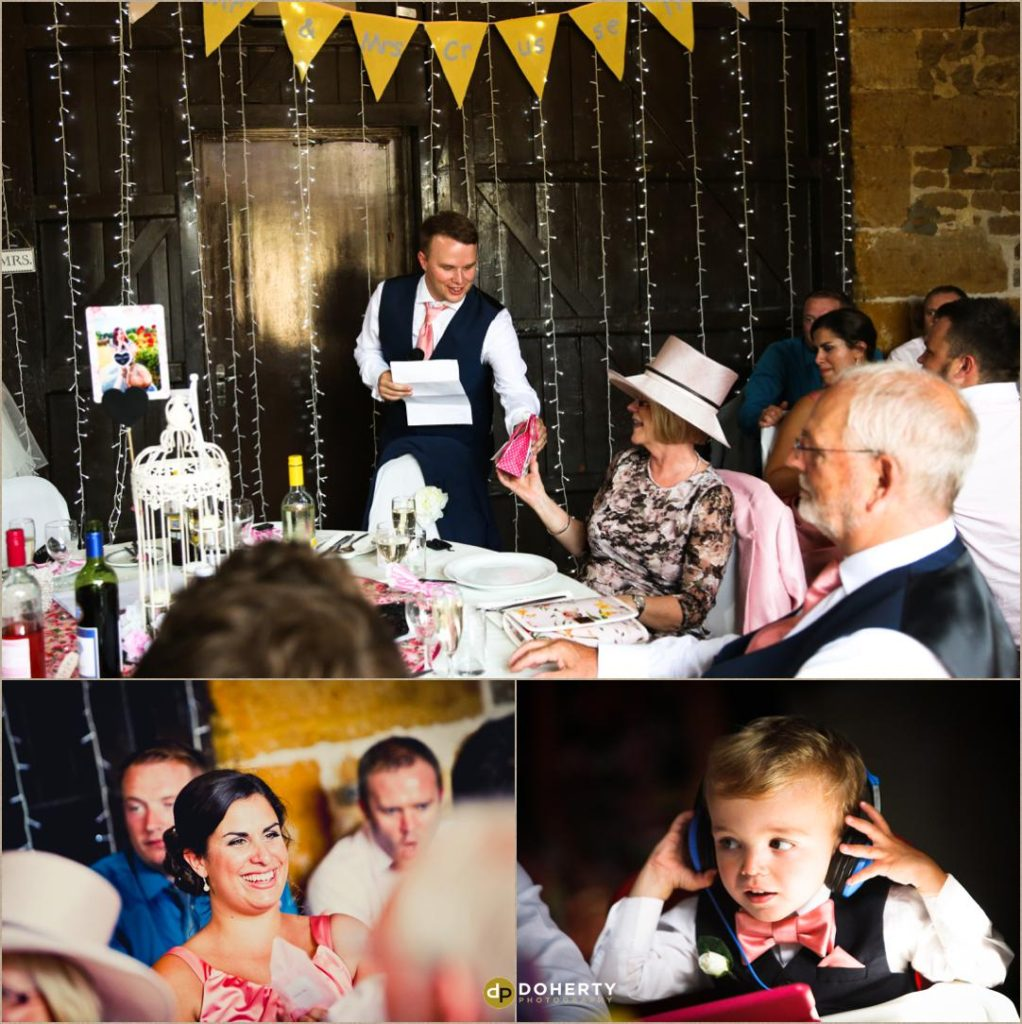 Speeches at The Barns at Hunsbury Hill Wedding