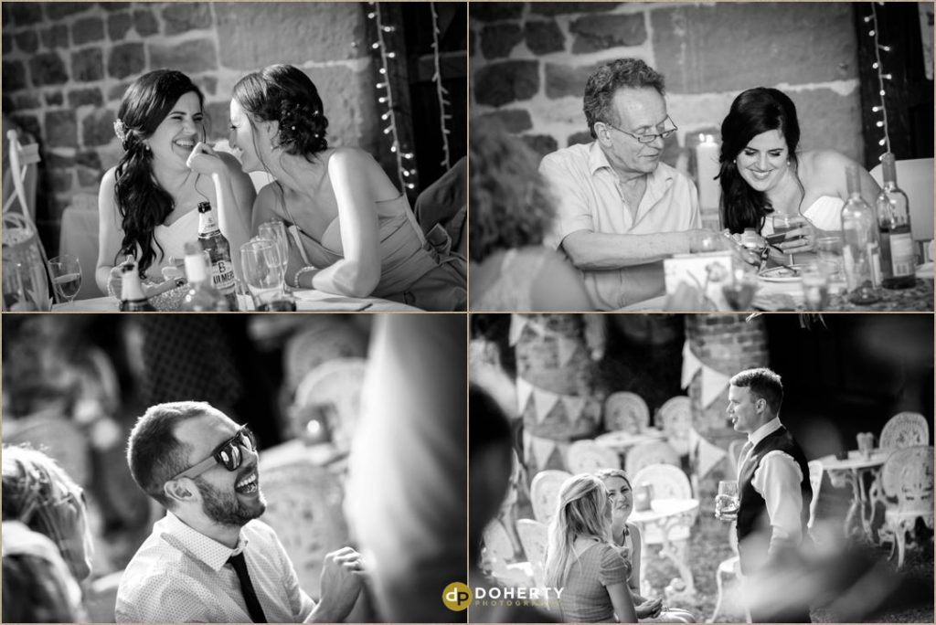 Candid shots at The Barns at Hunsbury Hill Wedding