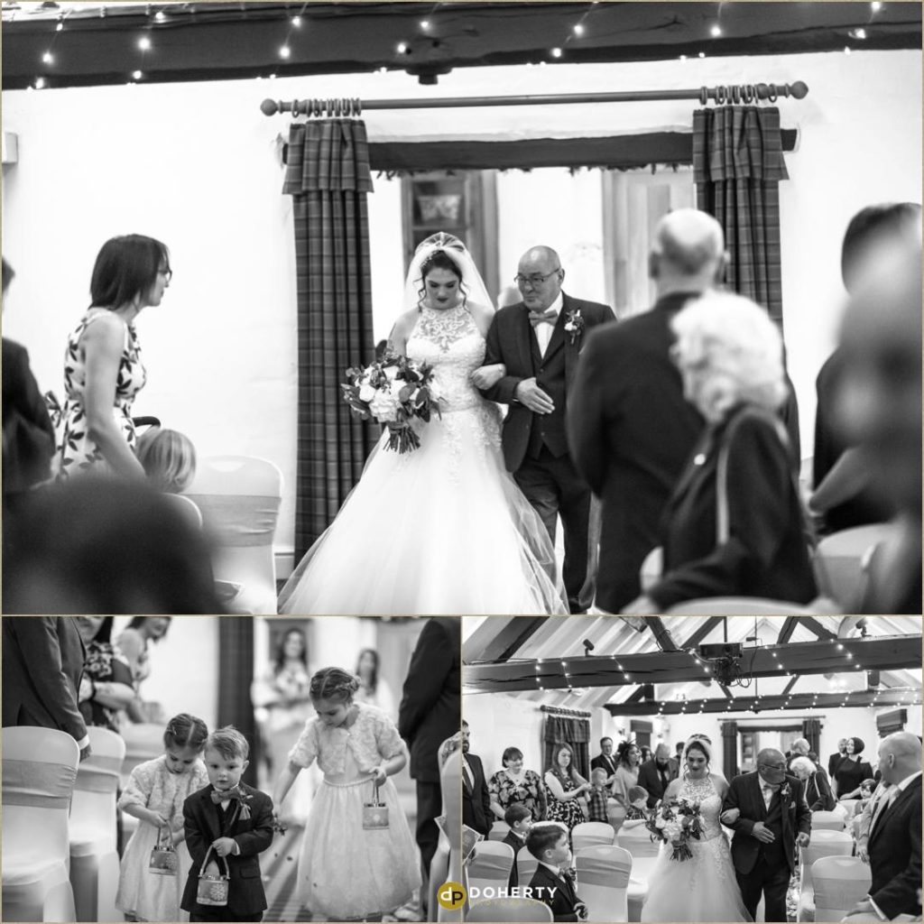 Bride arrives - Windmill Village Hotel Wedding