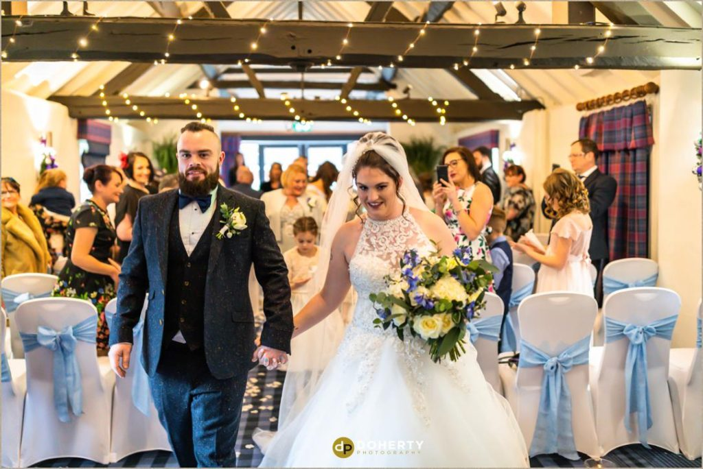 Bride and Groom married at Windmill Village Hotel