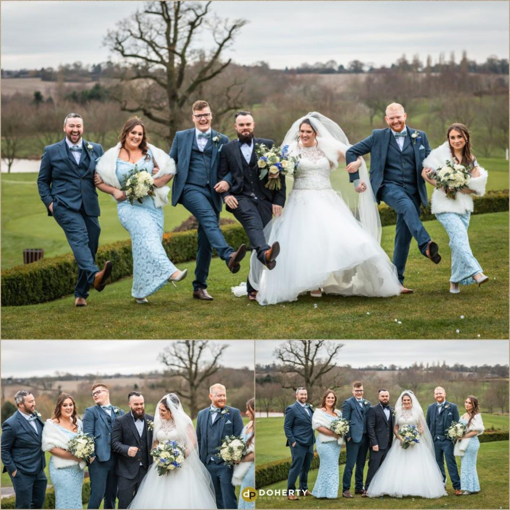 Bridal party - Windmill Village Hotel - Winter Wedding