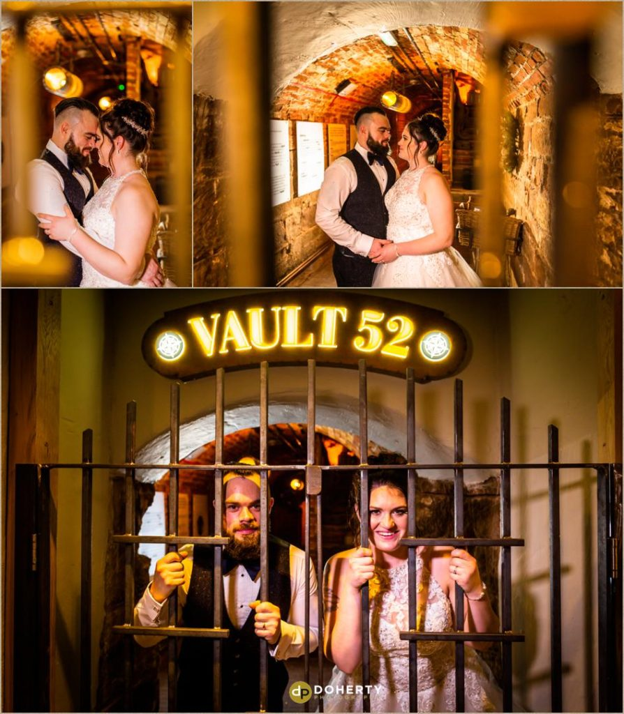 The Vault 52 bar - Winter Wedding