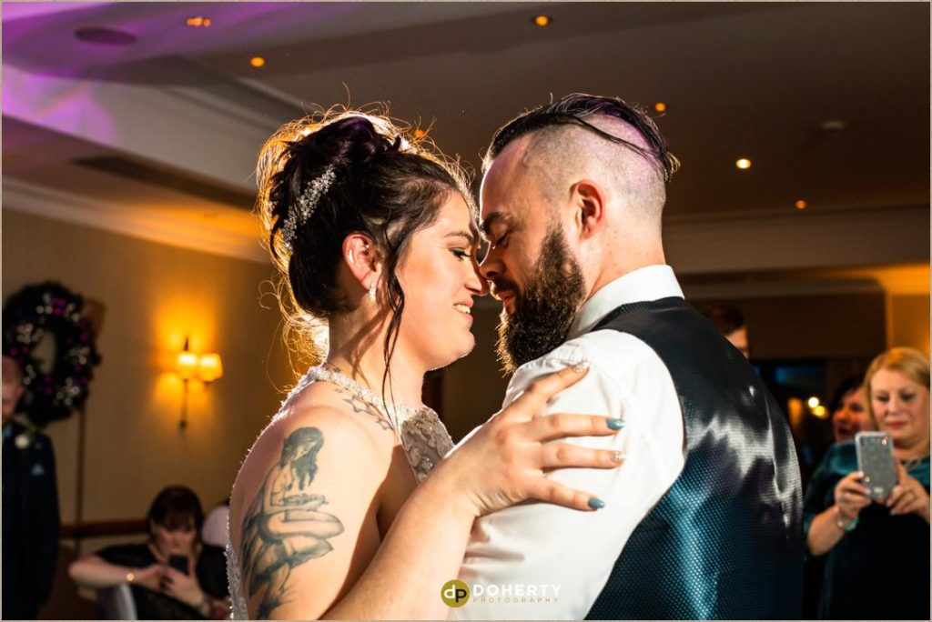 Bride and groom first dance - Windmill Village Hotel - Winter Wedding