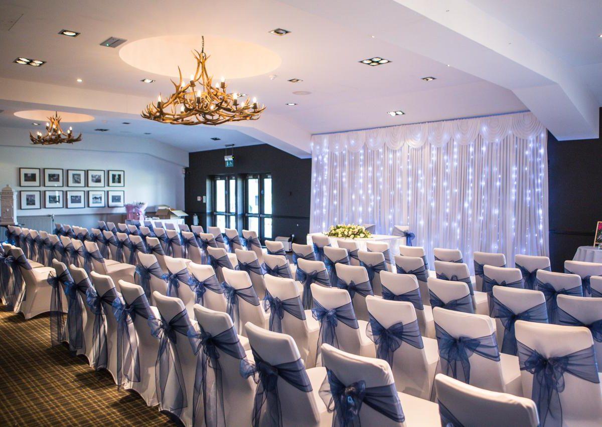 Staverton Park room set up for a wedding