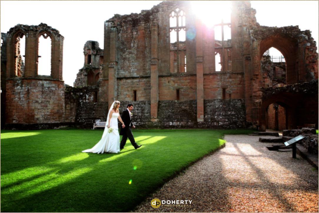 Kenilworth Castle bride and groom