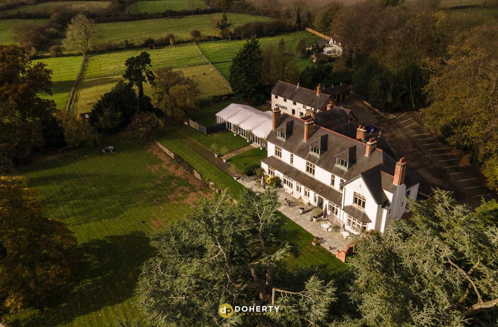 Ashton Lodge House Drone Photography