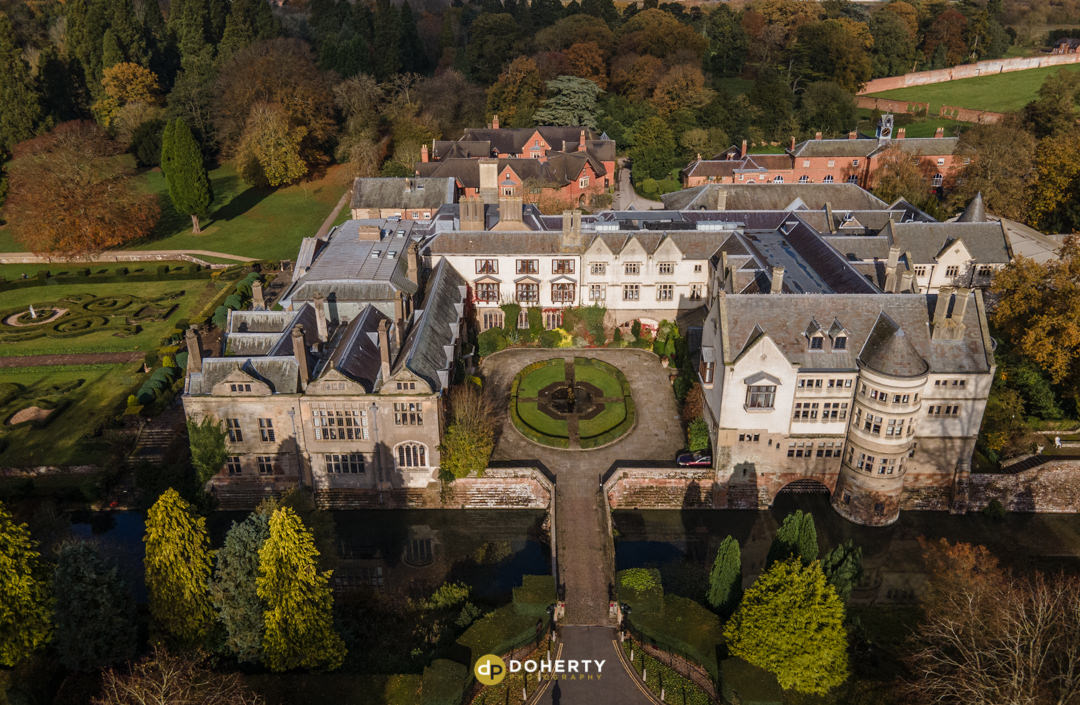 Coombe Abbey birds-eye view photo