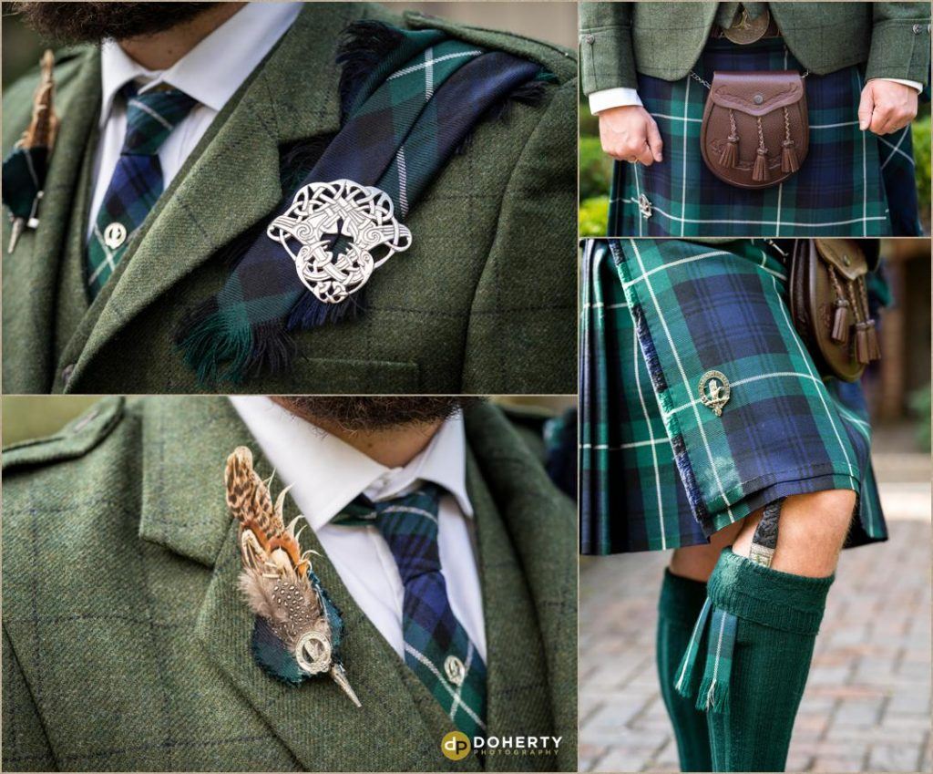 Closeup detail photos of Scottish kilt - Lord Leycester