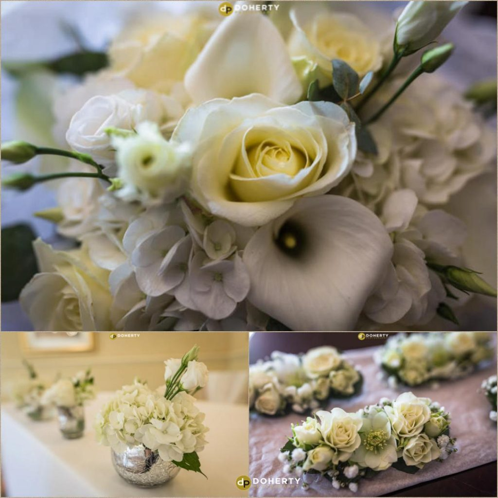 Brides flowers at Ansty Hall