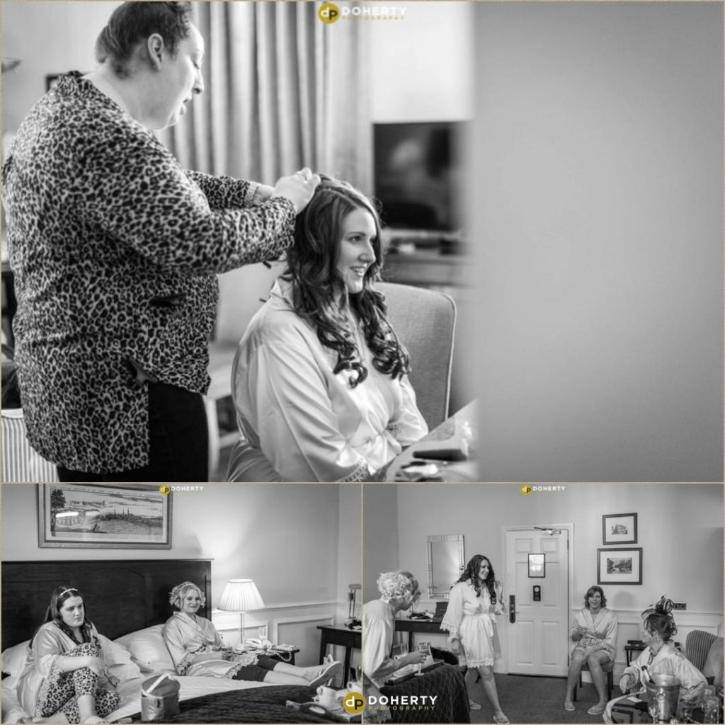 Hair and make-up at Ansty Hall for bridal party