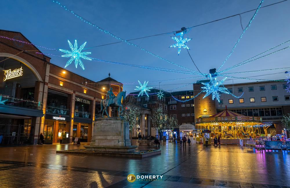 Christmas lights in Coventry