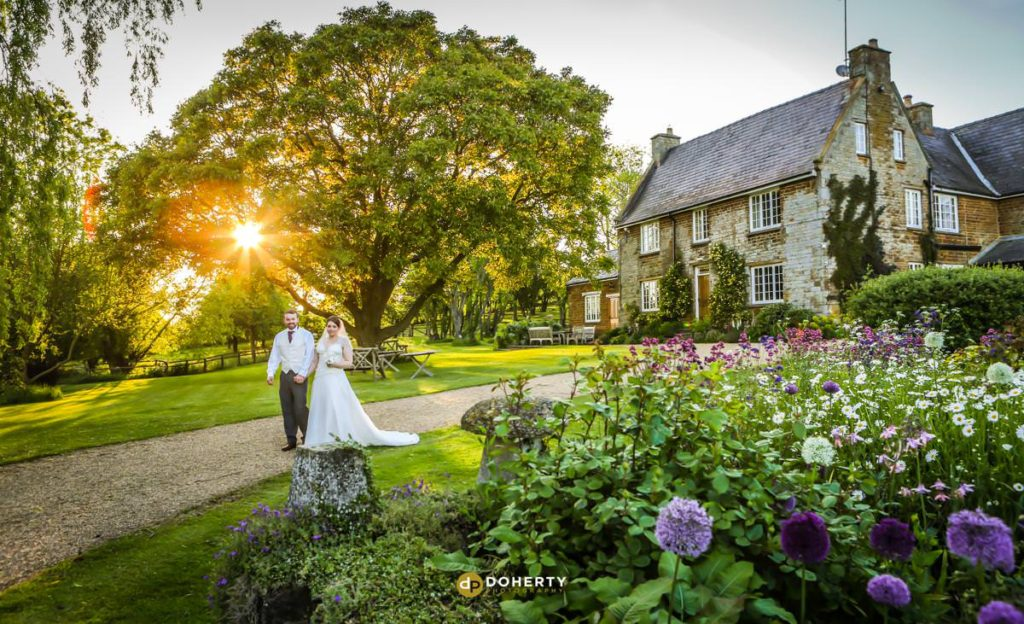Crockwell Wedding couple at sunset