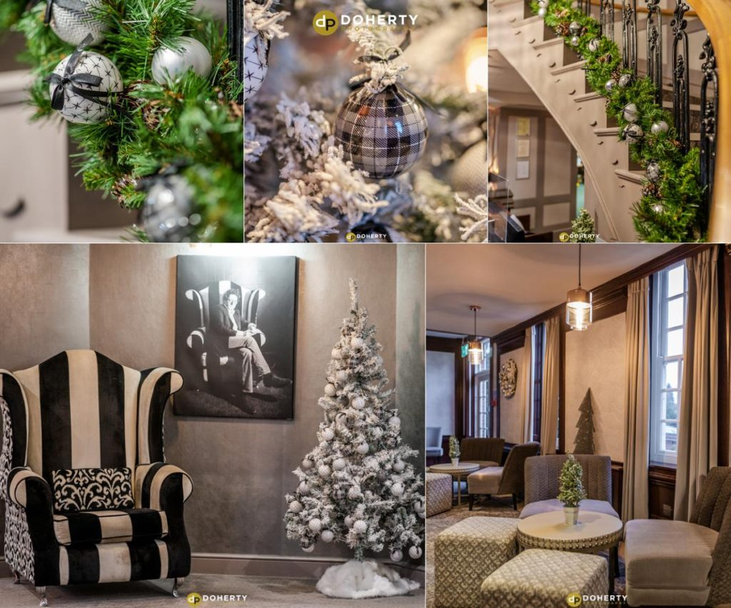 Christmas decorations in hotel in Birmingham