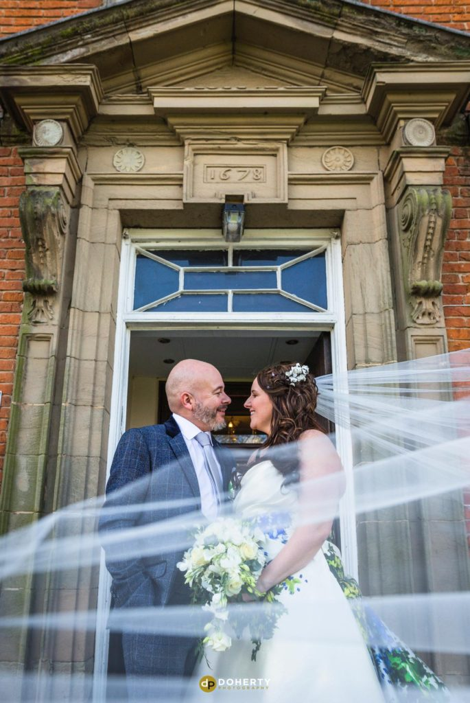 Bride and Groom married at Ansty Hall