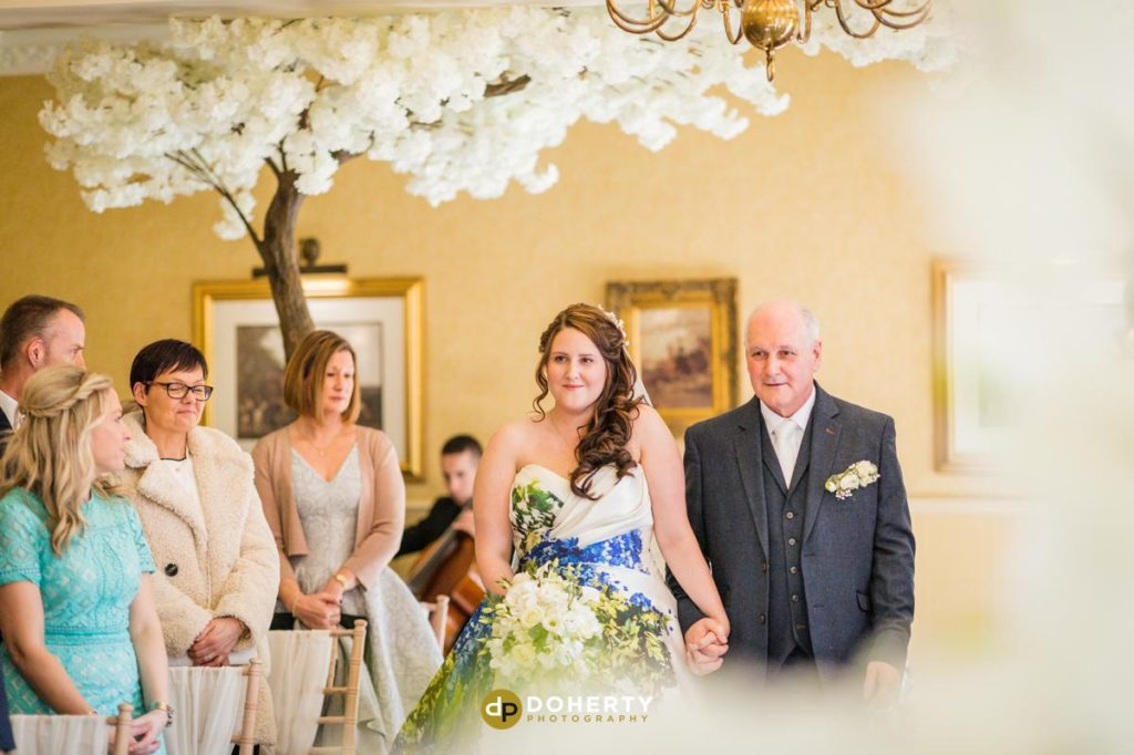 Entrance of bride and groom at Ansty Hall
