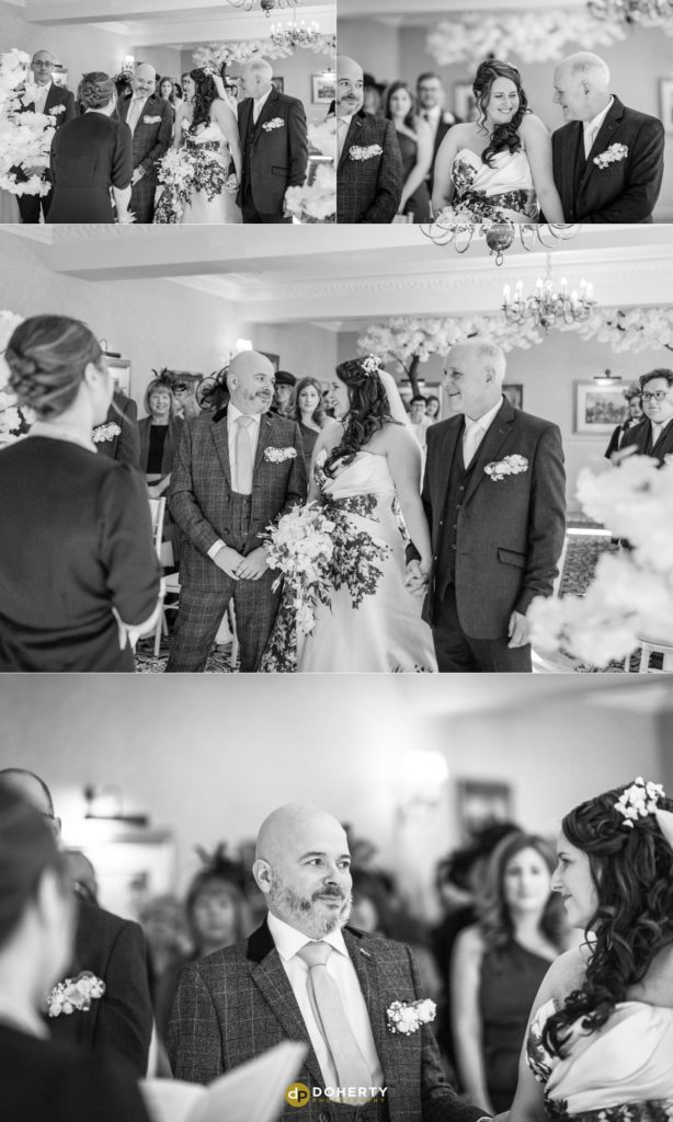 Wedding ceremony at Ansty Hall
