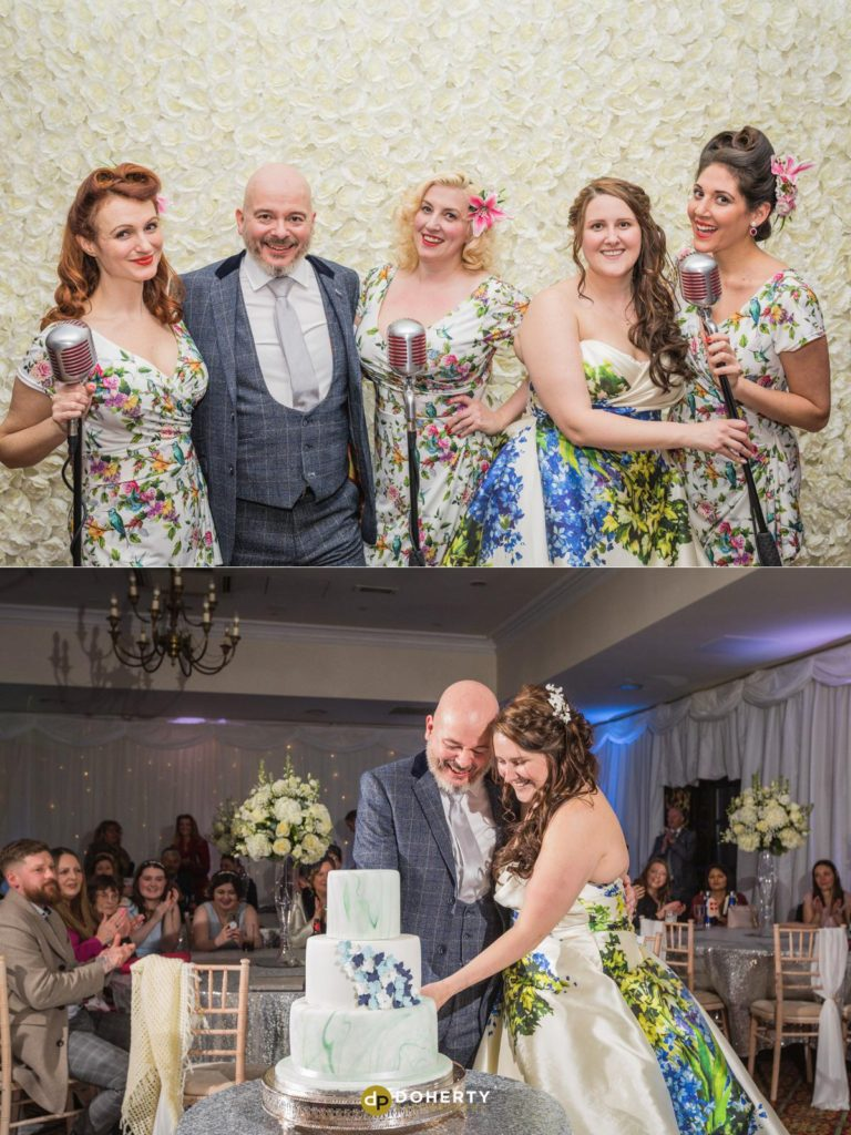 Cake cutting photo at Ansty Hall