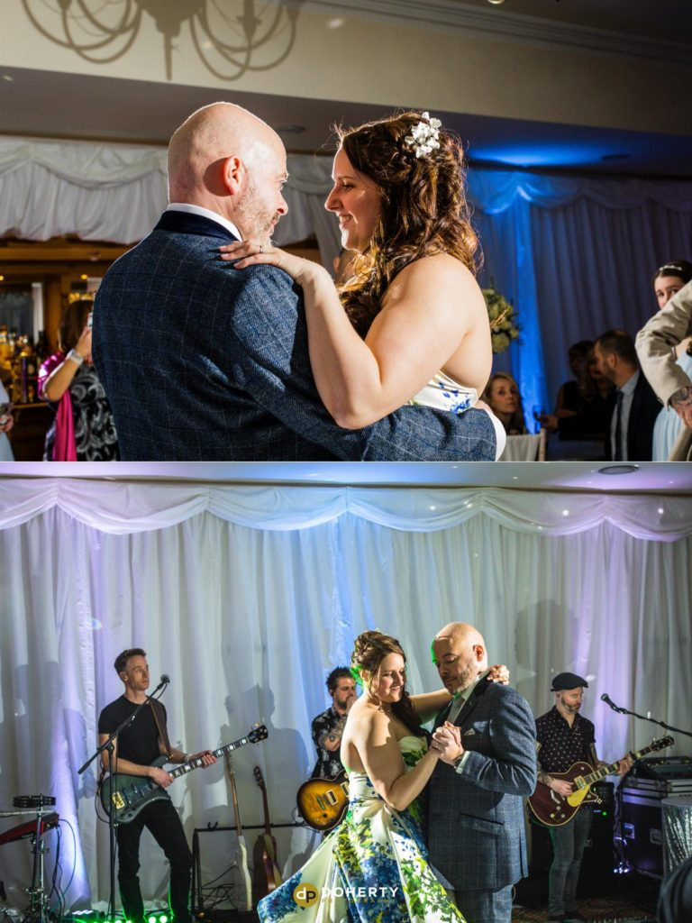 Bride and groom's first dance at Ansty Hall