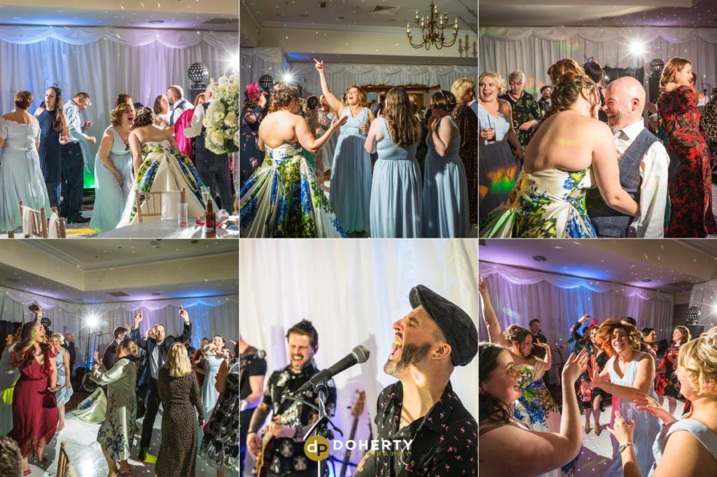 Partying photo of guests at Ansty Hall