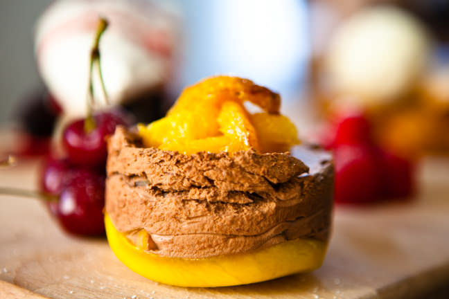 Food photography of desserts