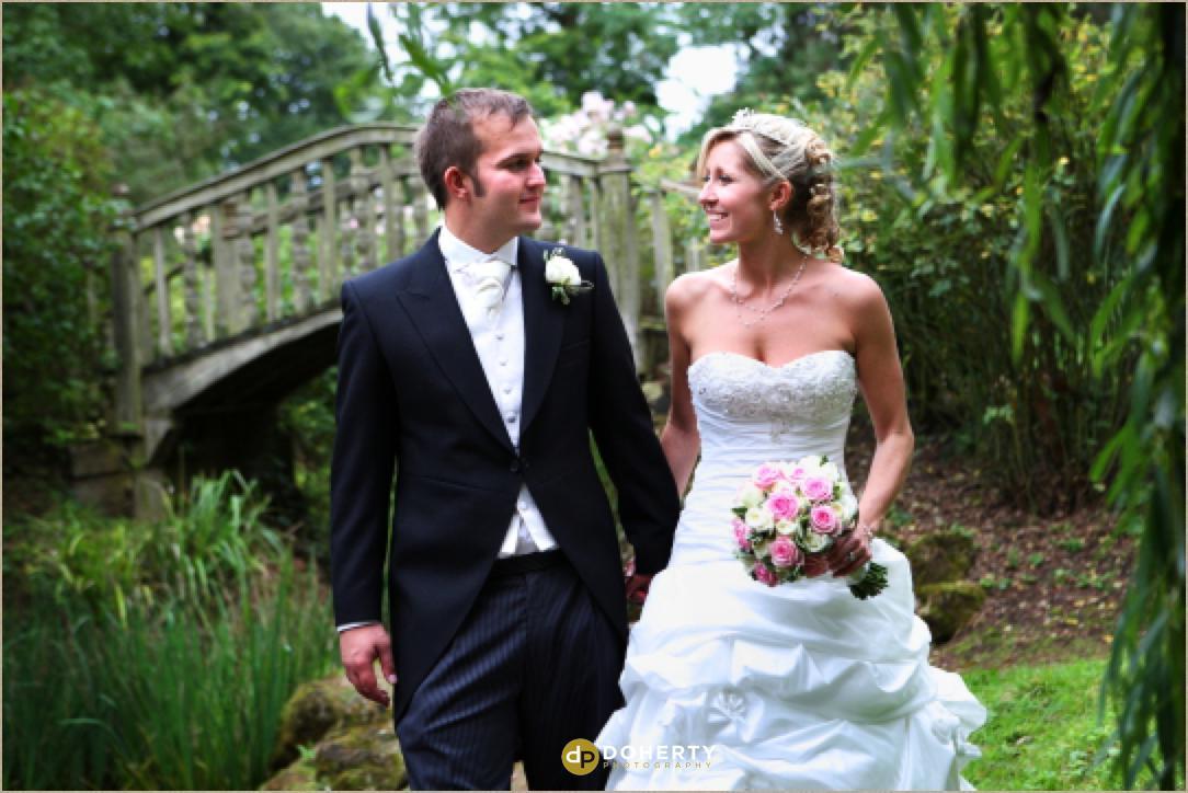 Woodland Grange wedding couple