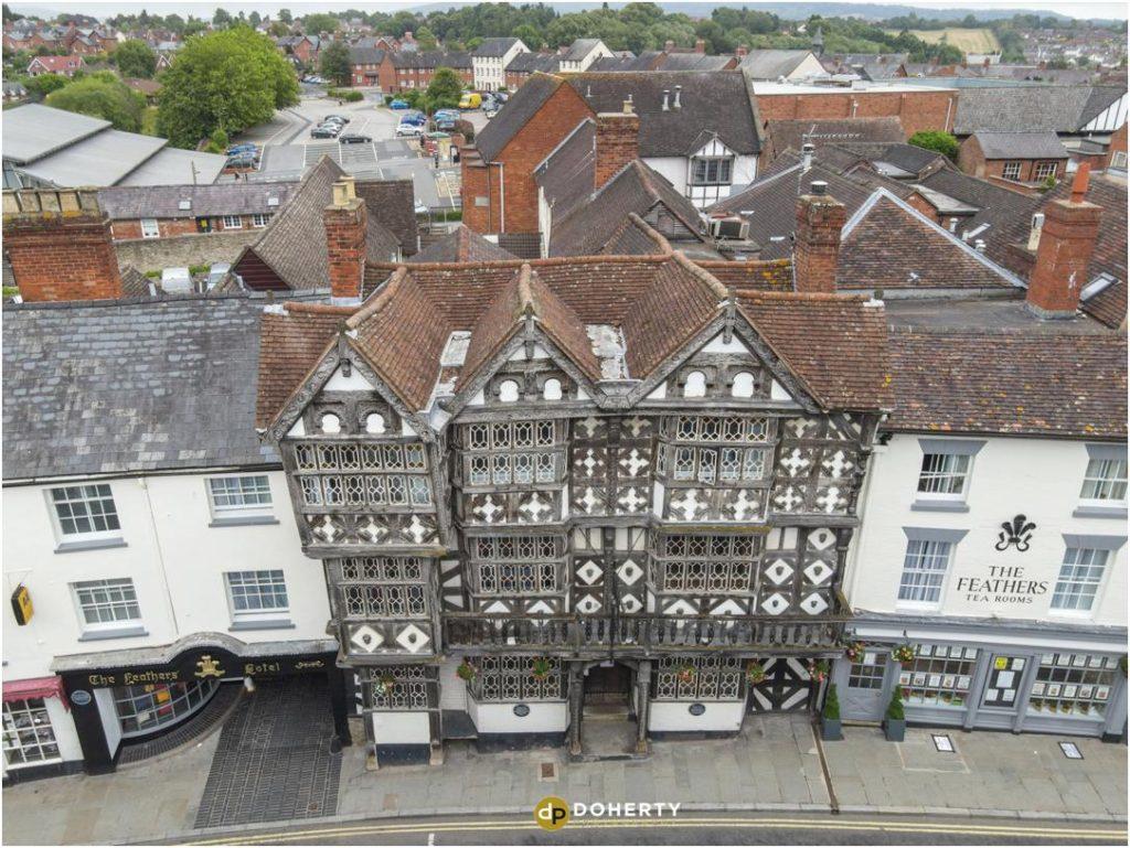 Historic 17th century building in Ludlow