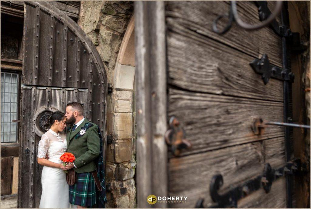 Lord Leycester hospital bride and groom portraits