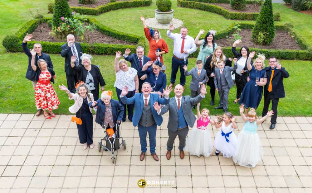 Micro Wedding Photography - Manor Hotel group photos