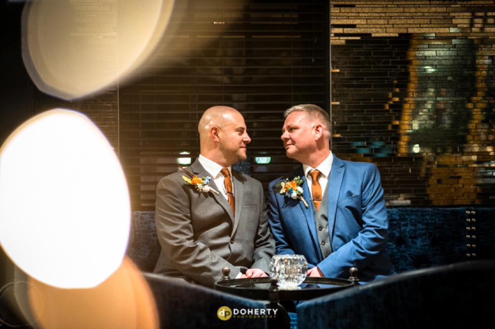 micro wedding photography groom and groom