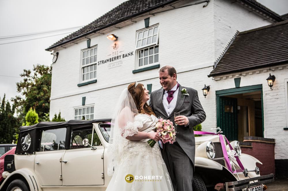 Strawberry Bank bride and groom- Wedding Photographer - Midlands