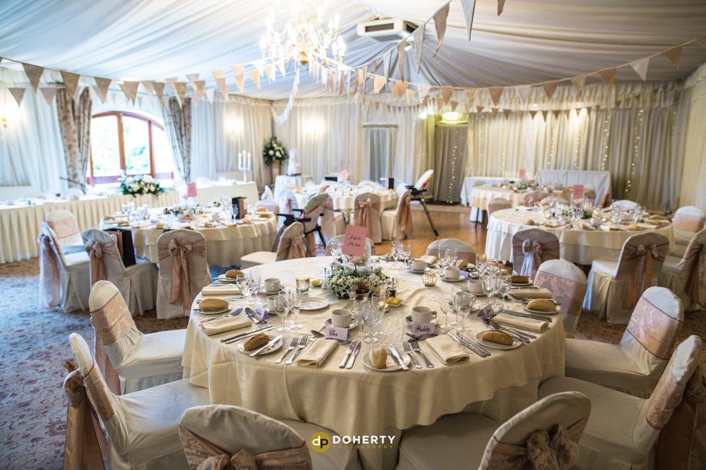 Albright Hussey wedding venue room set up