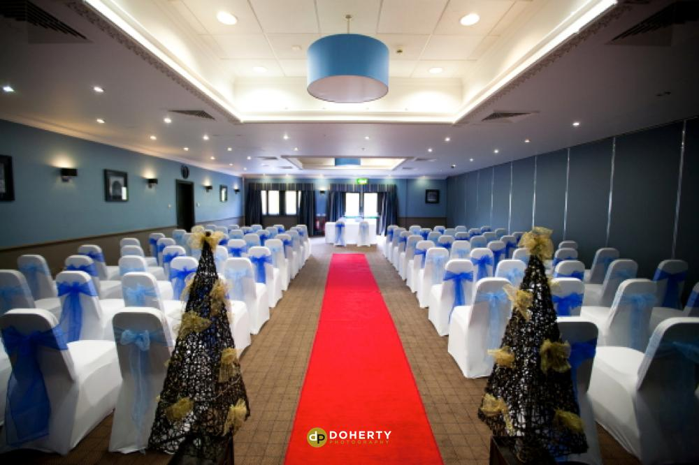 Village Hotels wedding ceremony room wet up