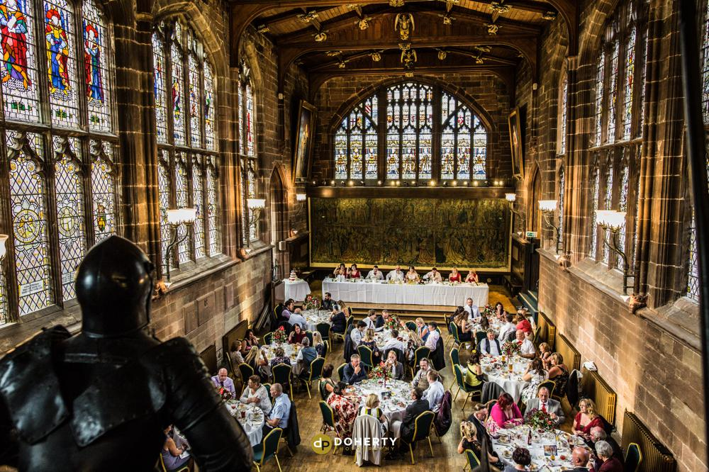 St Mary's Guildhall wedding room set up