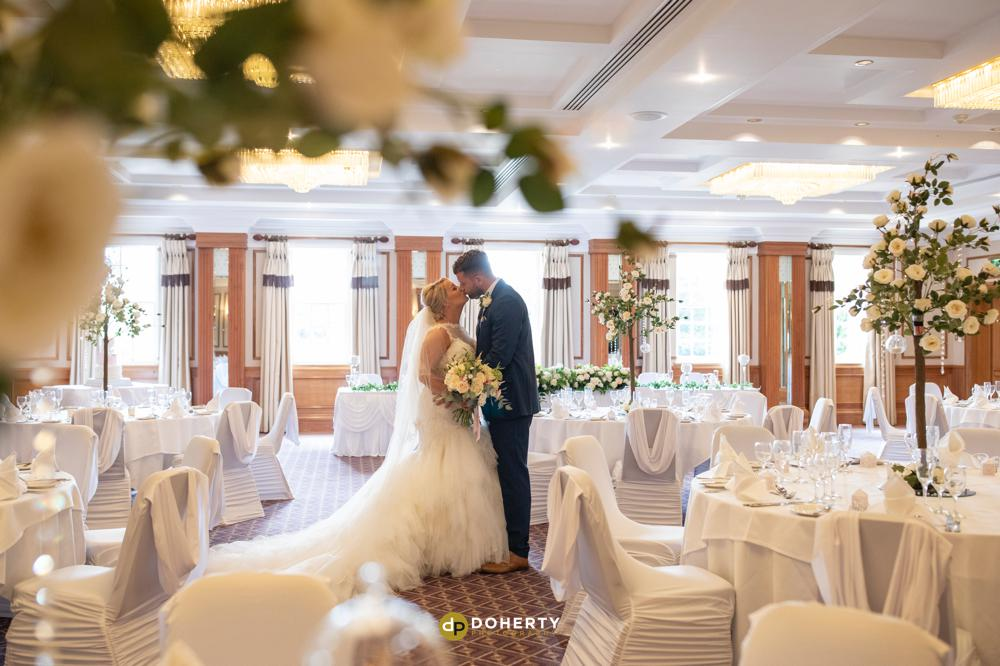 Wedding room setup at Manor Hotel Meriden