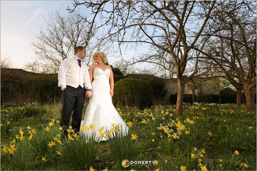Marriott Hanbury Manor Bride and groom,