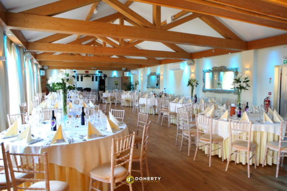 Stanwick Hotel wedding venue room set up