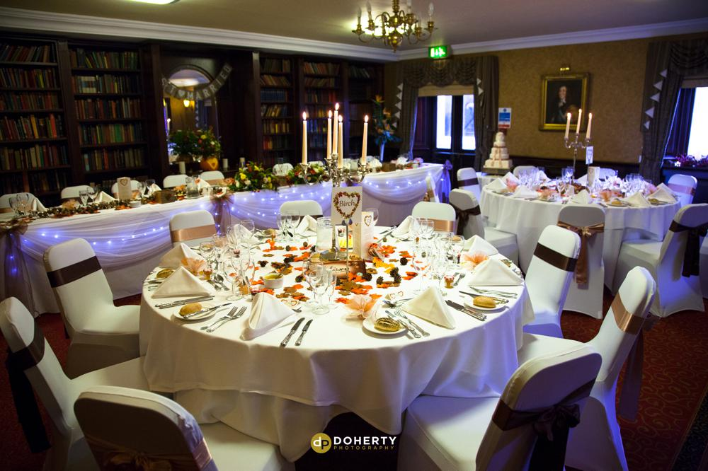 Quorn Country Hotel reception room setup