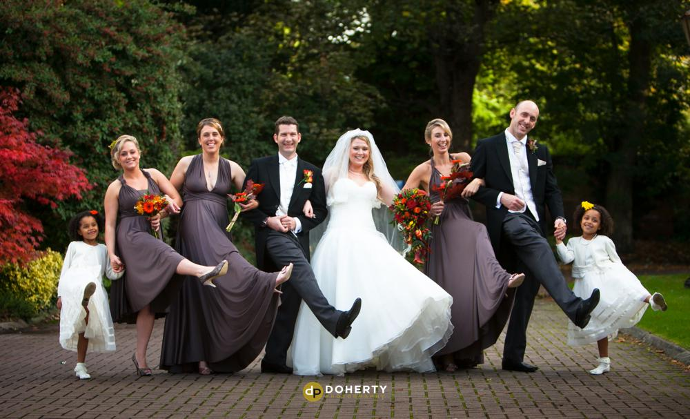 Bridal party at Quorn Country Hotel - Leicestershire Photographer