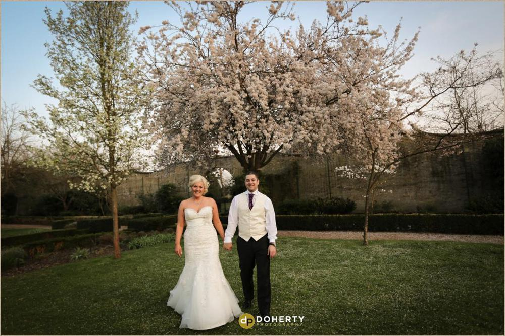 Hanbury Manor Hotel wedding couple