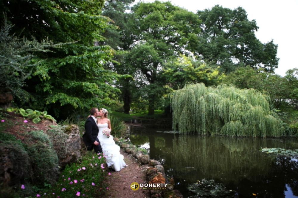 Bride and groom at Jephson Gardens